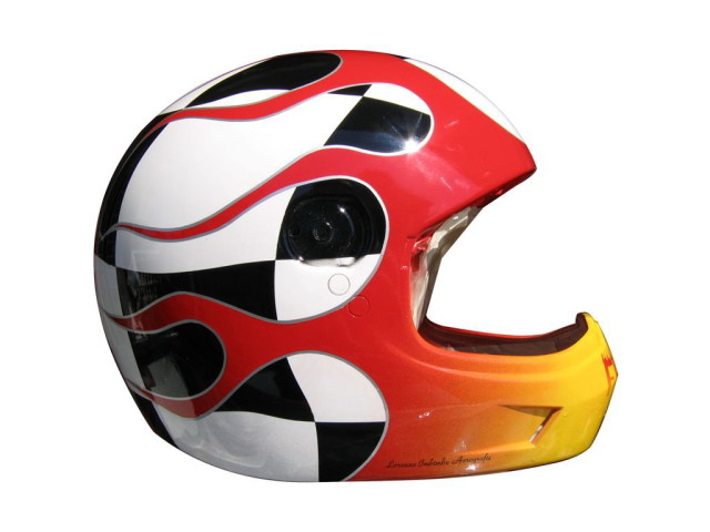 Nolan flames Helmet