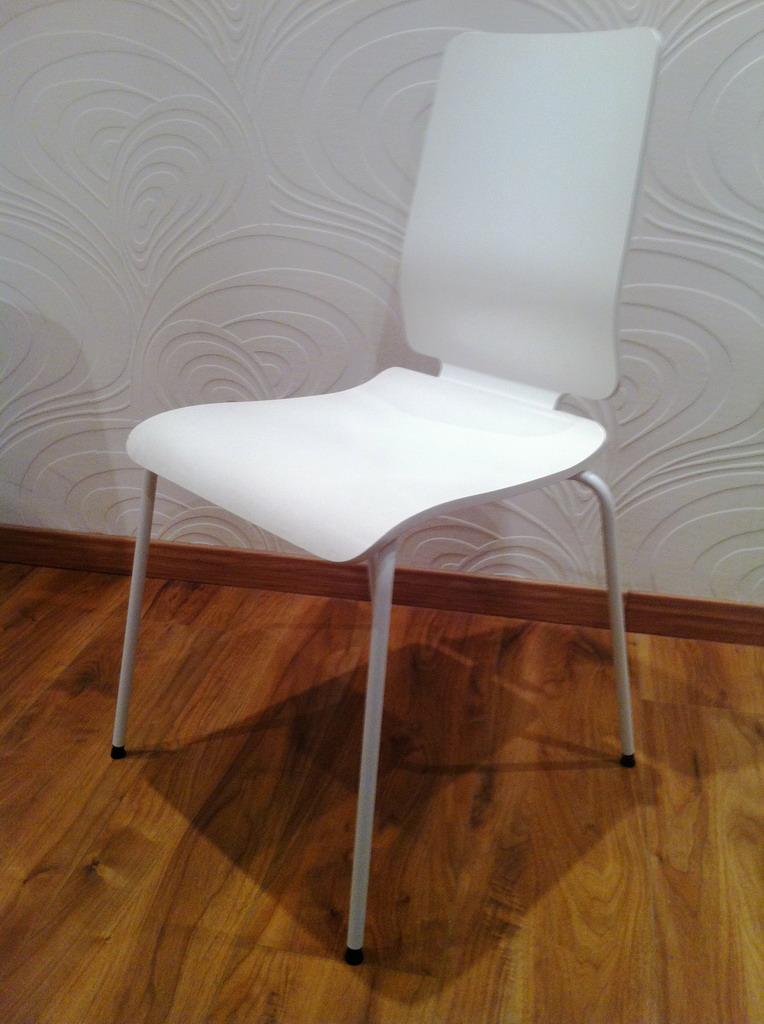 Ripristino struttura in metallo sedie ikea lorenzo imbimbo for Ikea sedie bianche